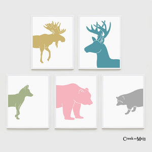 girls printable woodland animals