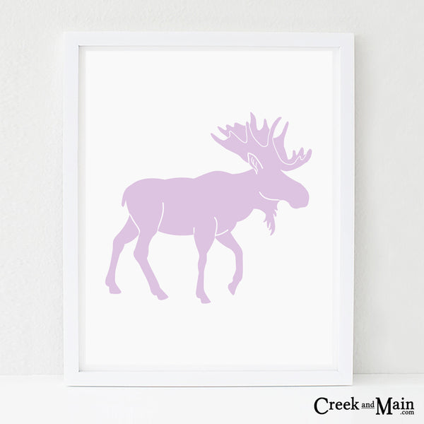 Printable moose wall art