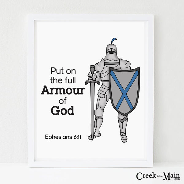 Kids bible verse wall art, Armour of God