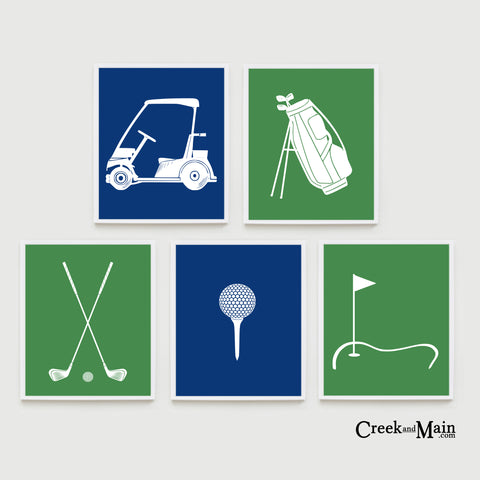 golf nursery art, kids wall art