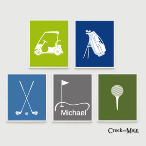 golf nursery, wall art