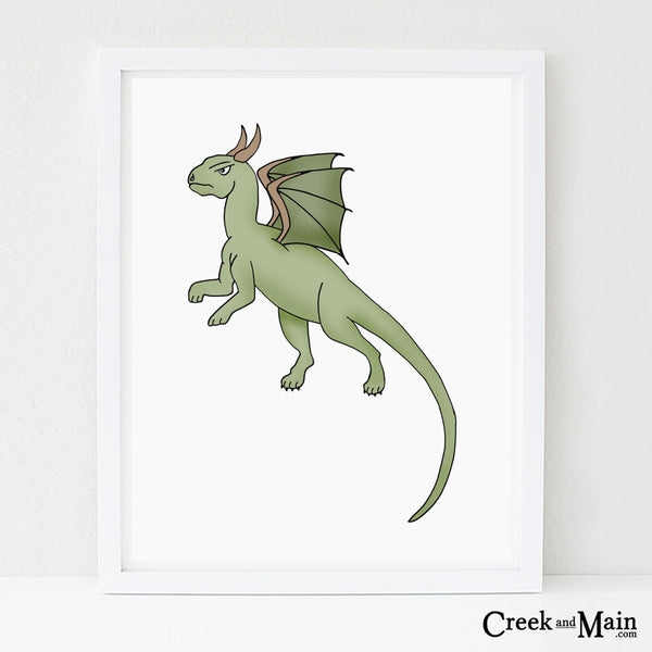 dragon wall art, kids nursery decor