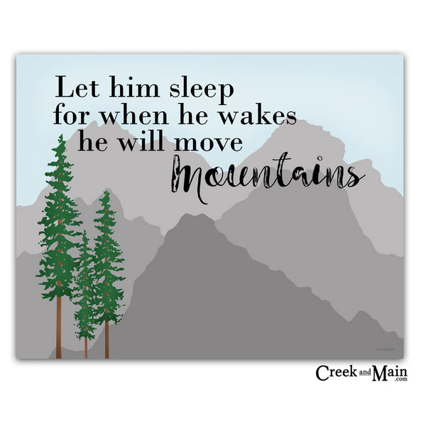 let him sleep for when he wakes wall art