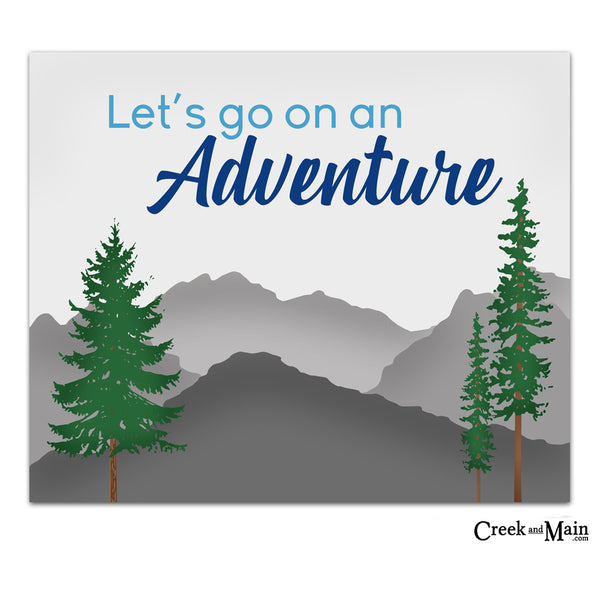 lets go on an adventure wall art print