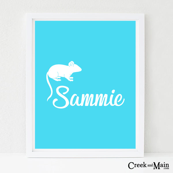 personalized farm nursery art, mouse wall art