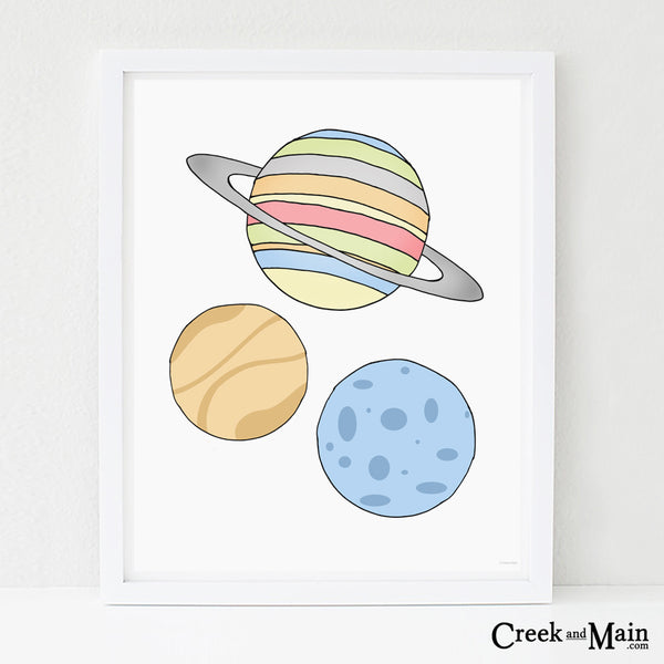 printable wall art, space nursery art