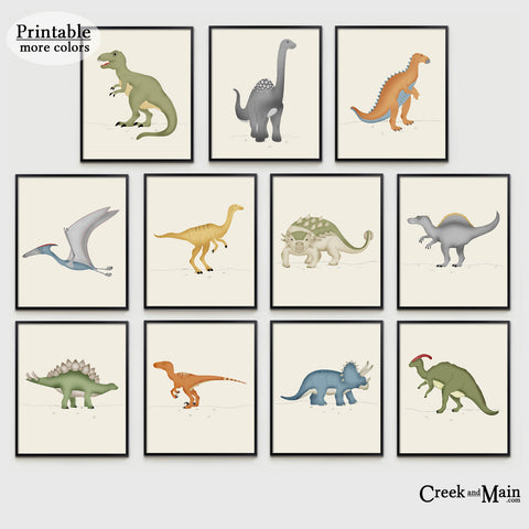 Printable Dinosaur Nursery Art