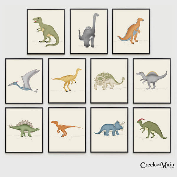 kids dinosaur nursery decor, wall art