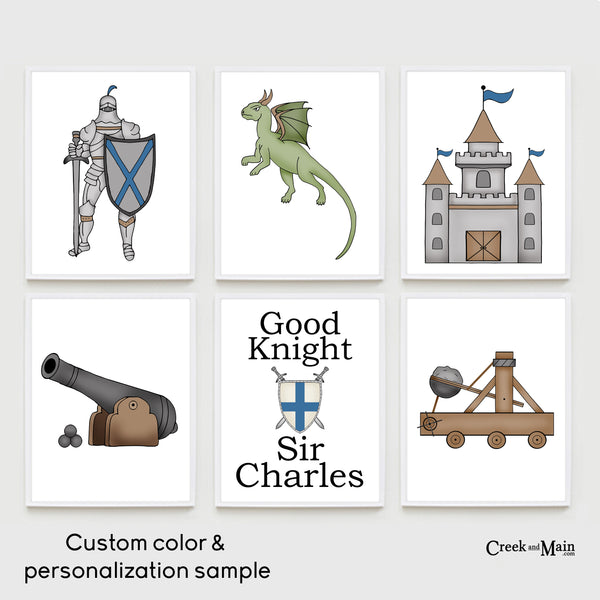 printable medieval times kids wall art