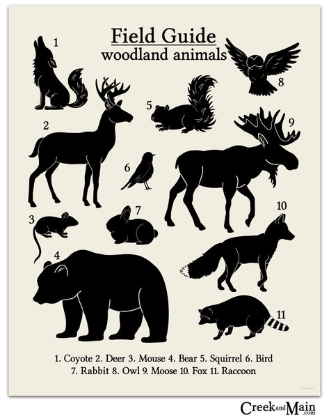 woodland nursery, printable wall art