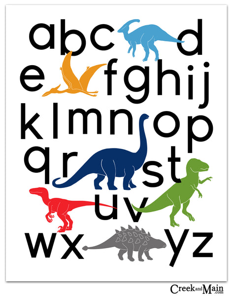 dinosaur nursery decor, printable wall art