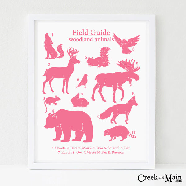girls printable woodland art