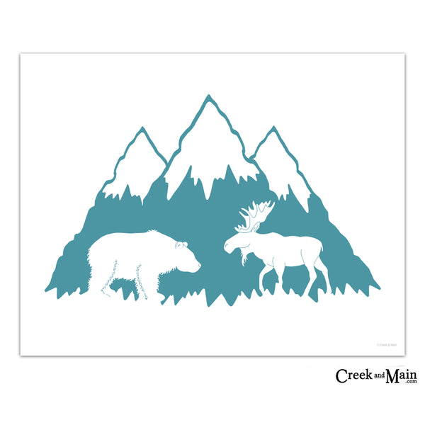 printable nursery art, mountain nursery decor