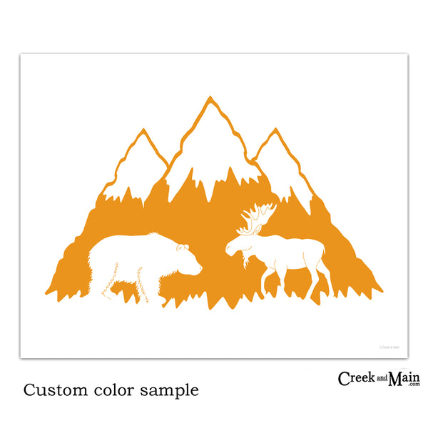 mountain nursery art, printable