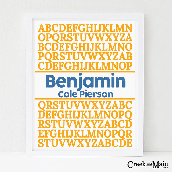 printable custom alphabet poster
