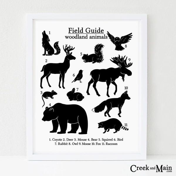 Printable woodland animal poster