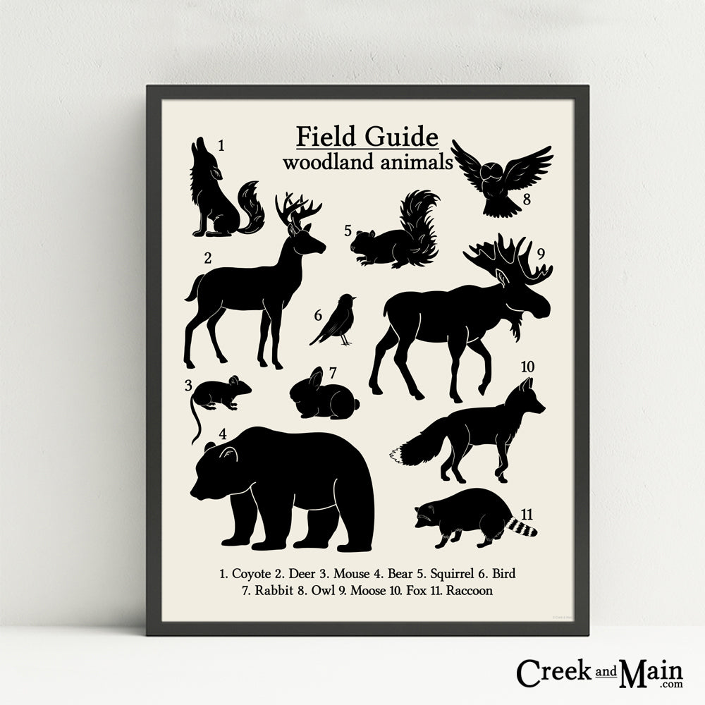 printable woodland animal wall art