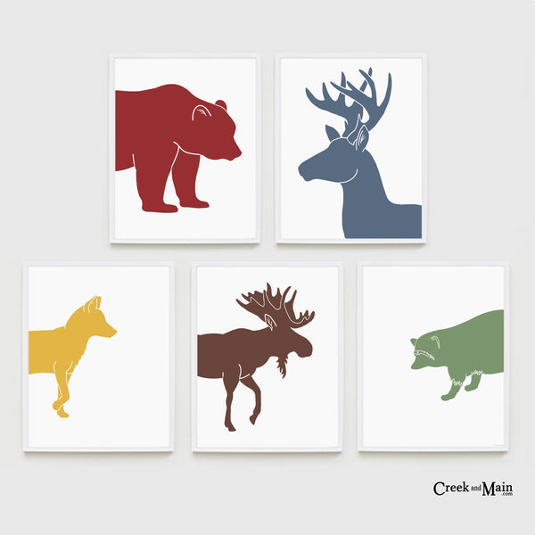 printable woodland animals