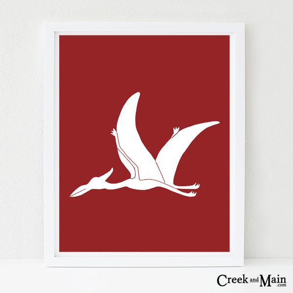 Pterodactyl wall art, nursery art