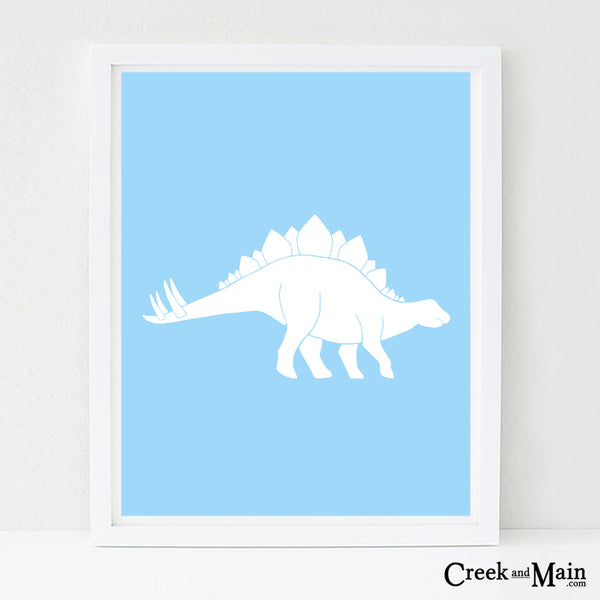 Stegosaurus wall art, nursery art