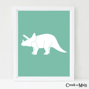 Triceratops wall art, nursery art