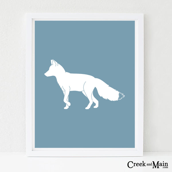 Printable woodland nursery art, fox wall art