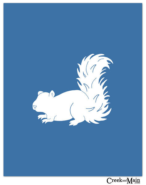 squirrel wall art, nursery wall art