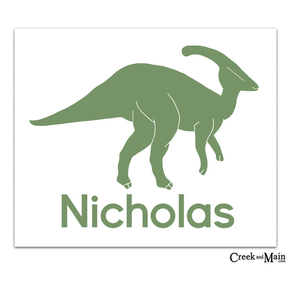personalized dinosaur nursery art