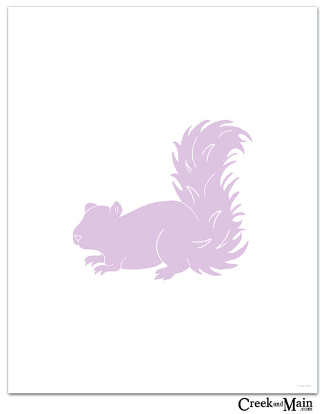squirrel nursery art, woodland decor