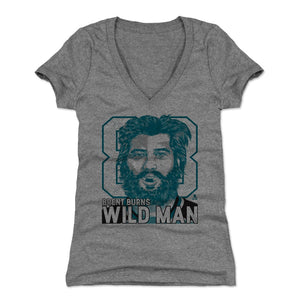 Brent Burns Women's V-Neck T-Shirt | 500 LEVEL