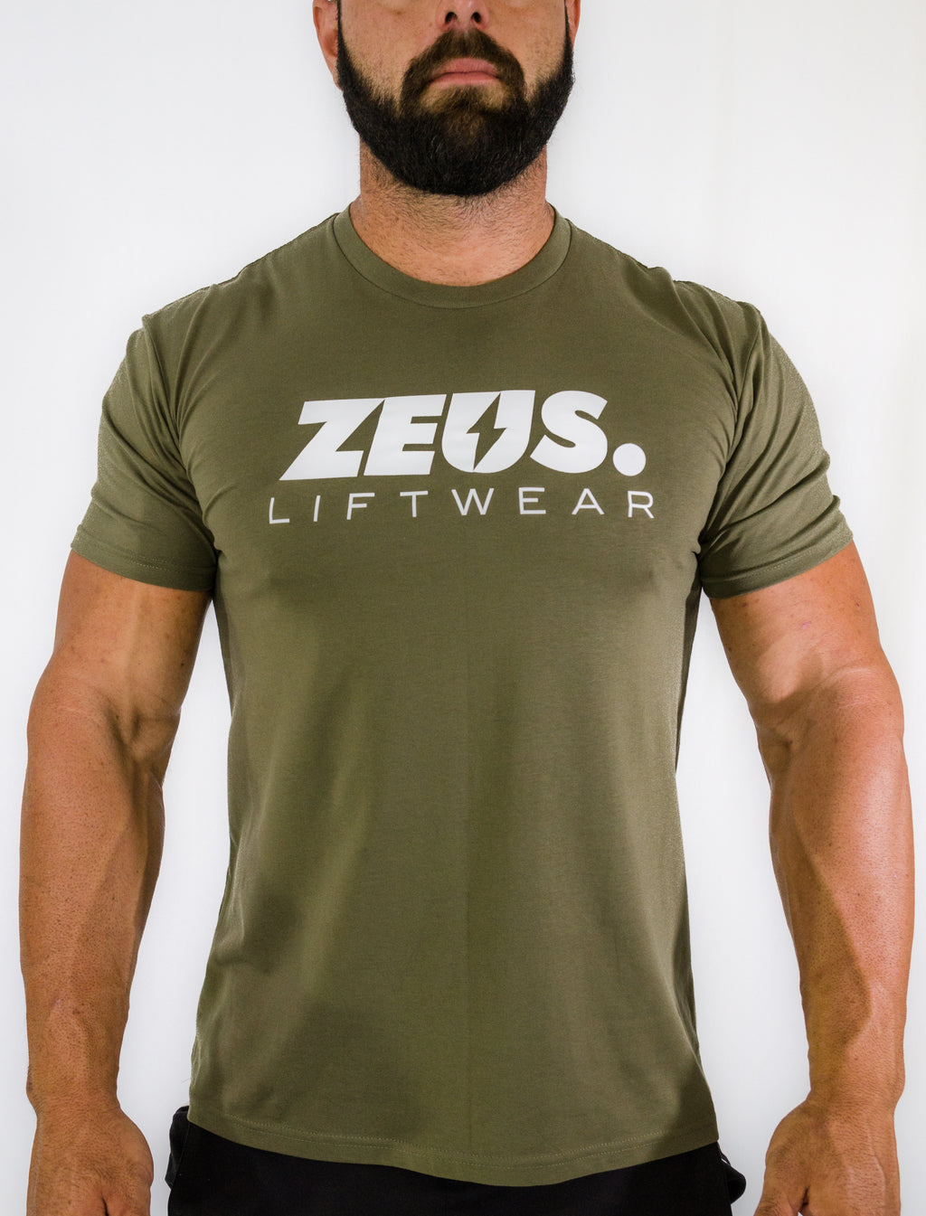 Zeus T-Shirt (Army/White)
