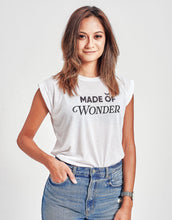 Load image into Gallery viewer, Women's Made of Wonder Rolled Cuff Tank