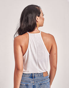 Women's Winged Color Polygon Flowy Tank