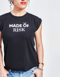 Women's Made of Risk Rolled Cuff Tank