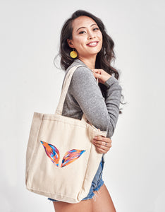 Color Strokes Wings Tote Bag