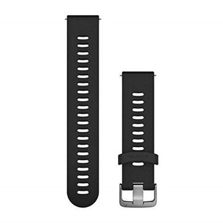 Garmin Quick Release Band 20mm, Black with silver hardware, One size (FR 645)