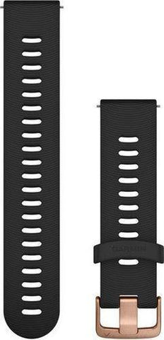 Garmin Quick Release Band 20mm, Black with rose-gold hardware, One size (FR 645)