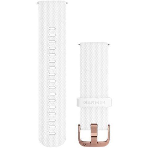 Garmin Quick Release Band 20mm, White silicone rose-gold Buckle