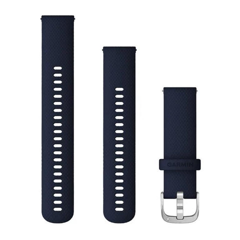 Garmin Quick Release Band 22mm, Dark Blue Silicone with Silver Buckle
