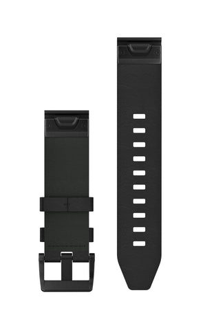 Garmin QuickFit 22mm Black Leather Band