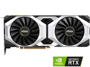MSI GeForce RTX 2080 DirectX 12 RTX 2080 VENTUS 8G 8GB 256-Bit GDDR6 PCI Express 3.0 x16 HDCP Ready SLI Support Video Card