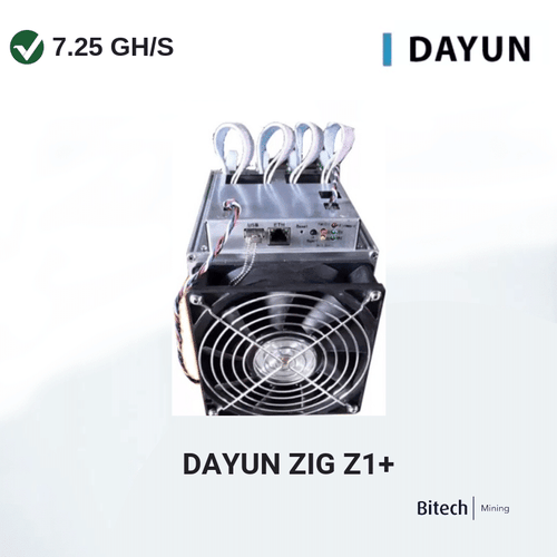 Dayun Zig Z1+ 7.25 GH/s with PSU and 12 Month Turnkey Hosting Vertcoin Miner