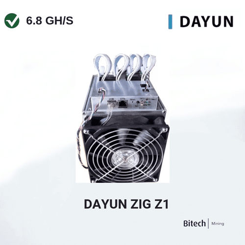 Dayun Zig Z1 6.8 GH/s with PSU and 12 Month Turnkey Hosting Vertcoin Miner
