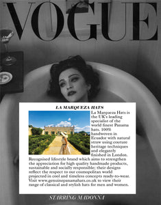 British Vogue features La Marqueza Hats in the Designer Profile editorial, June 2019