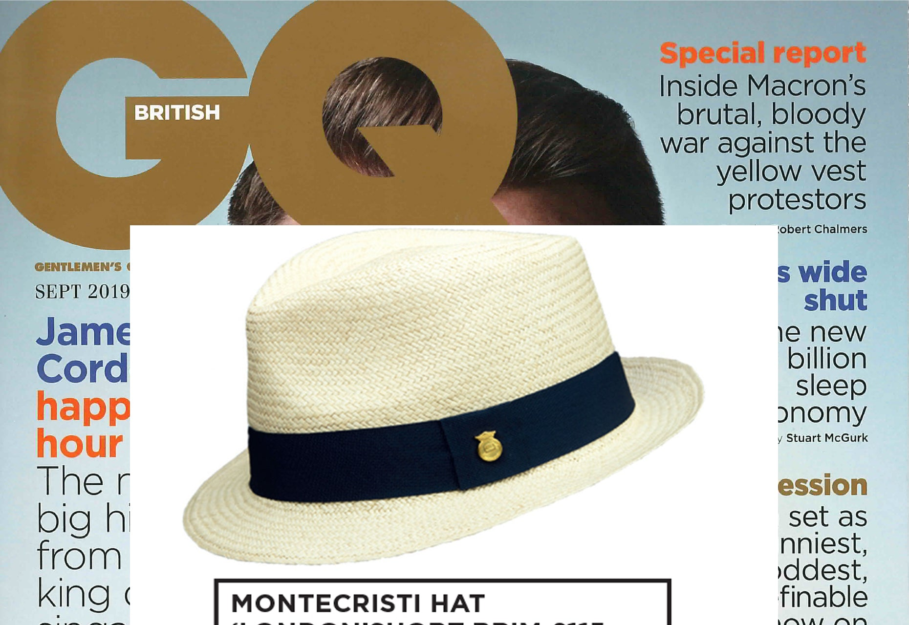 AS FEATURED IN BRITISH GQ, SPECIAL EDITION SEPT ISSUE 2019
