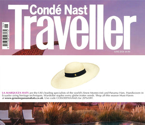 CONDE NAST TRAVELER FEATURES LA MARQUEZA HATS, Issue June 2019