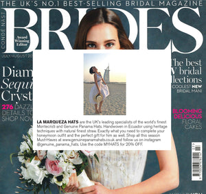 BRIDES FEATURES LA MARQUEZA HATS, ISSUE JULY/AUGUST 2019