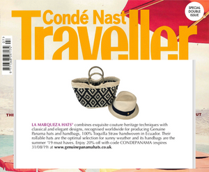 Condé Nast Traveller features La Marqueza Hats issue July/August