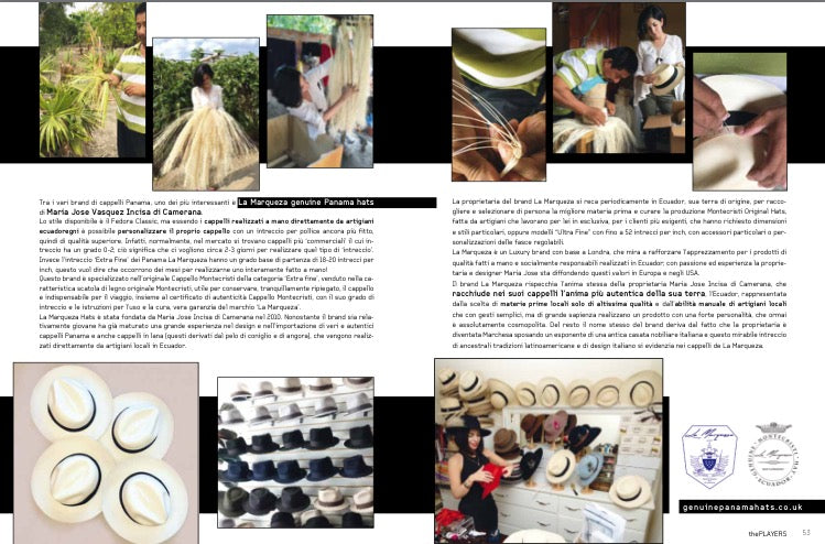 La Marqueza Hats Best straw hats in the world hand made and recognised worldwide fashion edit UK
