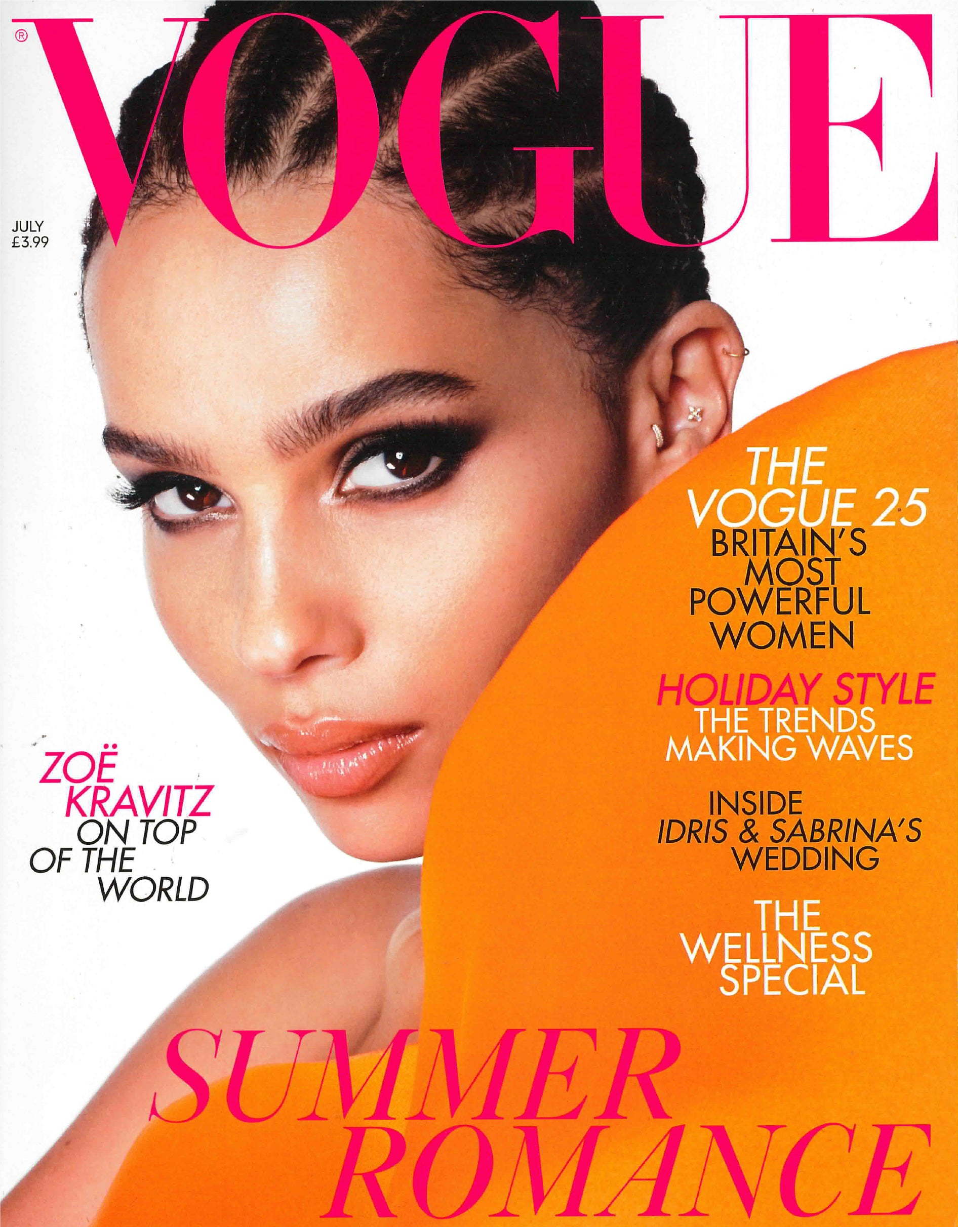 ZOE KRAVITZ ON THE TOP OF THE WORLD VOGUE MAGAZINE FEATURES LA MARQUEZA HATS